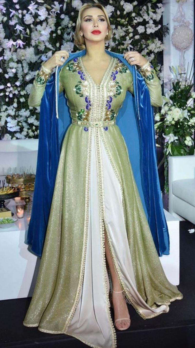 صورة قفطان مغربي عصري , صور لباس مغربي