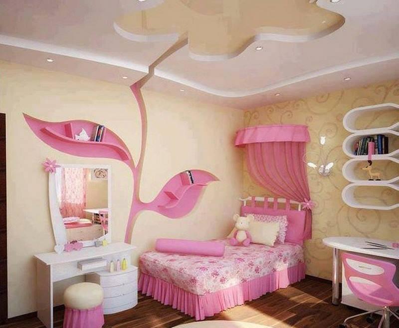صورة ديكور غرف نوم بنات , احدث موديلات ديكور غرف نوم البنات