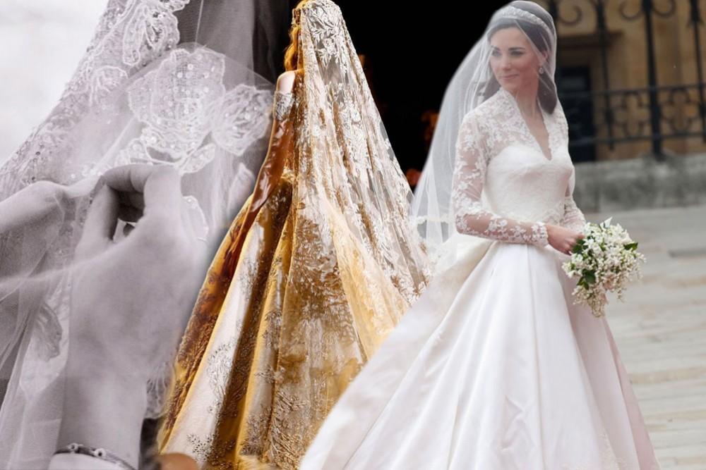 صورة طرحة العروس , احدث تصاميم طرحة العروس 2020