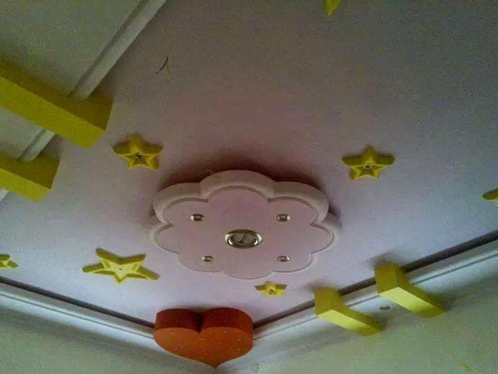 صورة ديكورات جبس غرف نوم اطفال , احدث صور الديكورات
