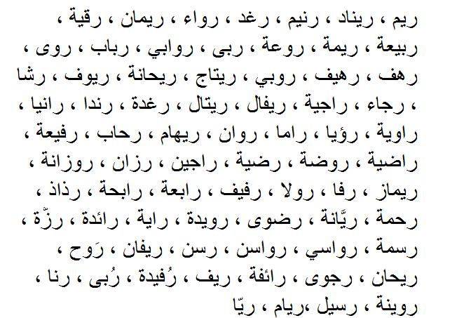 صور اجمل الاسماء العربية , احدث واجمل الاسماء العربيه
