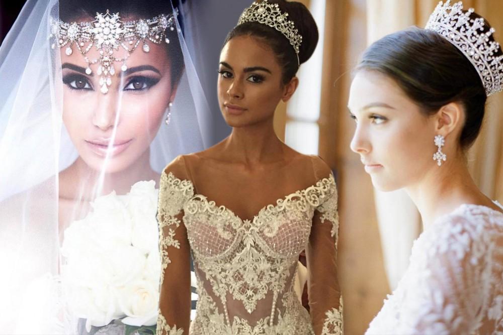صورة تسريحات شعر عروس , اجمل تسريحات شعر العرائس
