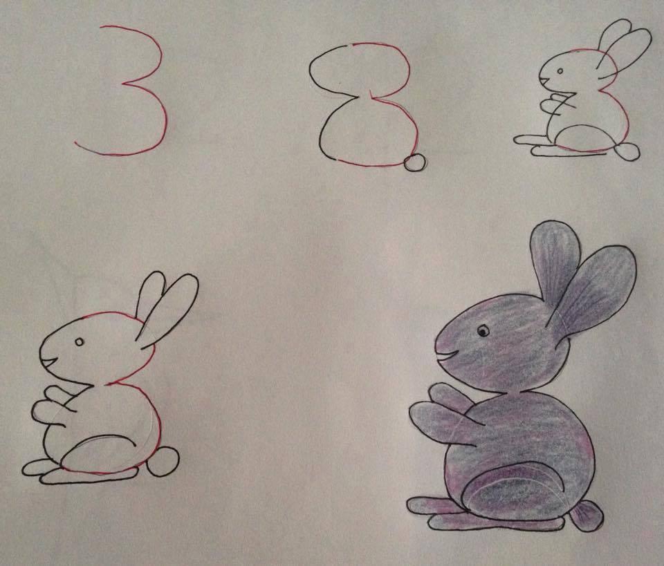 صورة رسومات سهله وحلوه , بعض صور للرسم بطريقة سهلة وممتعة