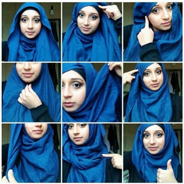 صورة صور لفات حجاب , بعض الرمزيات لاشكال حجابات مختلفة