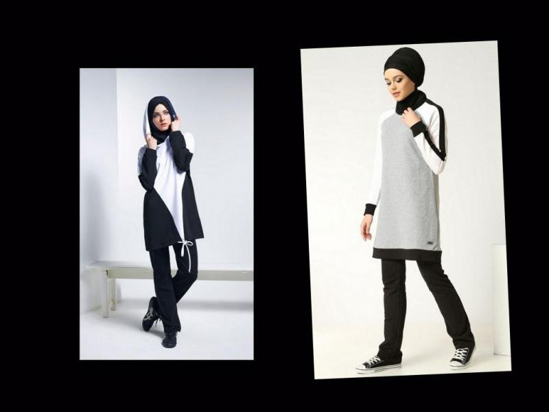صورة ملابس رياضية للمحجبات , الترنجات الخاصة بالمحجبات المخصصة للرياضة