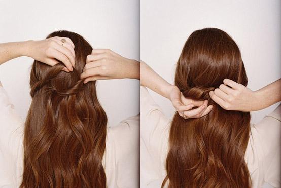صورة تسريحات للشعر الطويل بسيطة , صور احدث تسريحة شعر