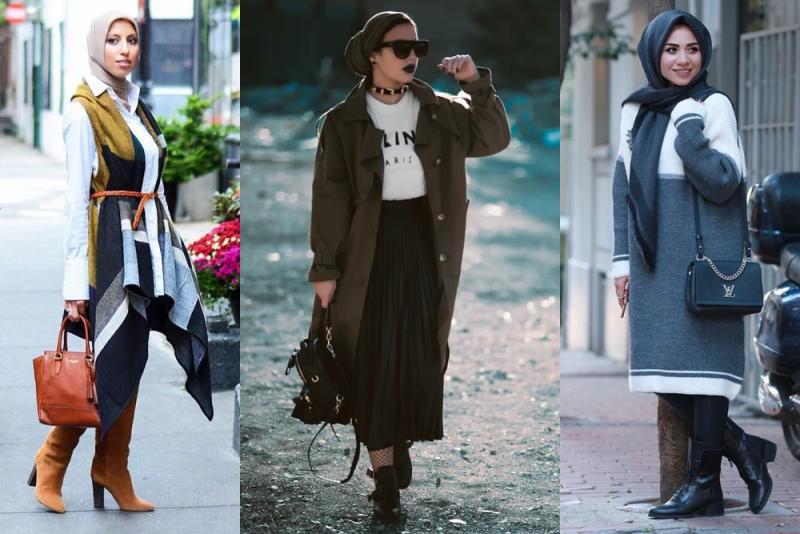 صورة ملابس محجبات 2020 , اجمل موضة ملابس المحجبات لهذا العام