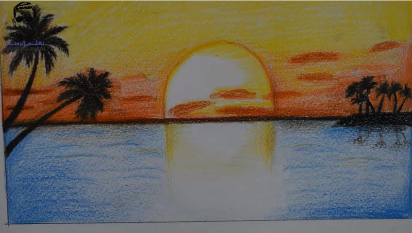 غروب الشمس بالرسم لم يسبق له مثيل الصور Tier3 Xyz
