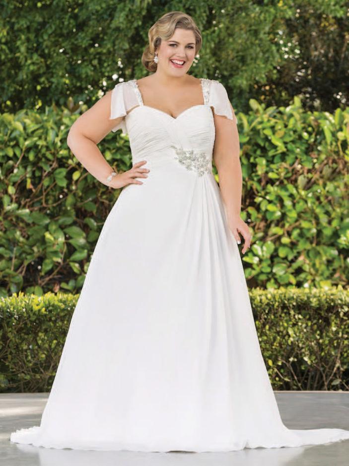 صورة صور فساتين زفاف , جميلة وانيقة للبنت السمينة