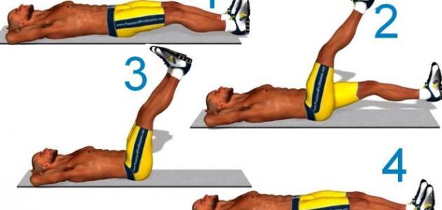 تمارين عضلات البطن في البيت للمبتدئين احساس ناعم