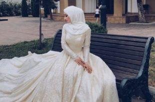 صورة فساتين زفاف للمحجبات , تصميمات فساتين زفاف للمحجبات روعه