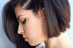 صورة تسريحات شعر قصير , اجمل صور تصفيف للشعر القصير