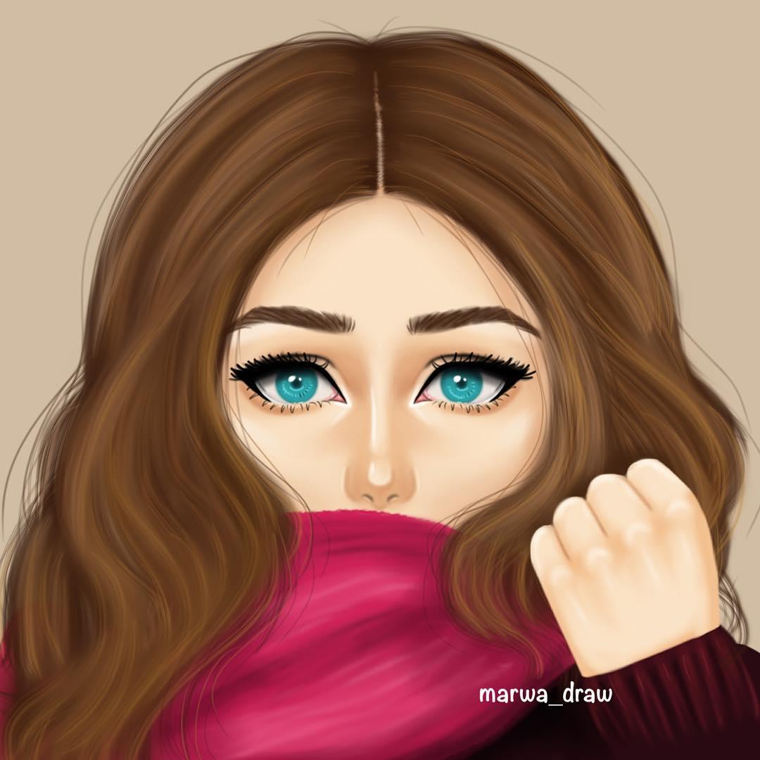 صورة رسومات بنات جميلة , رسومات بنات مرسومة تجنن