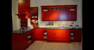 صورة الوان مطابخ خشب , مطابخ خشب ملونة مودرن