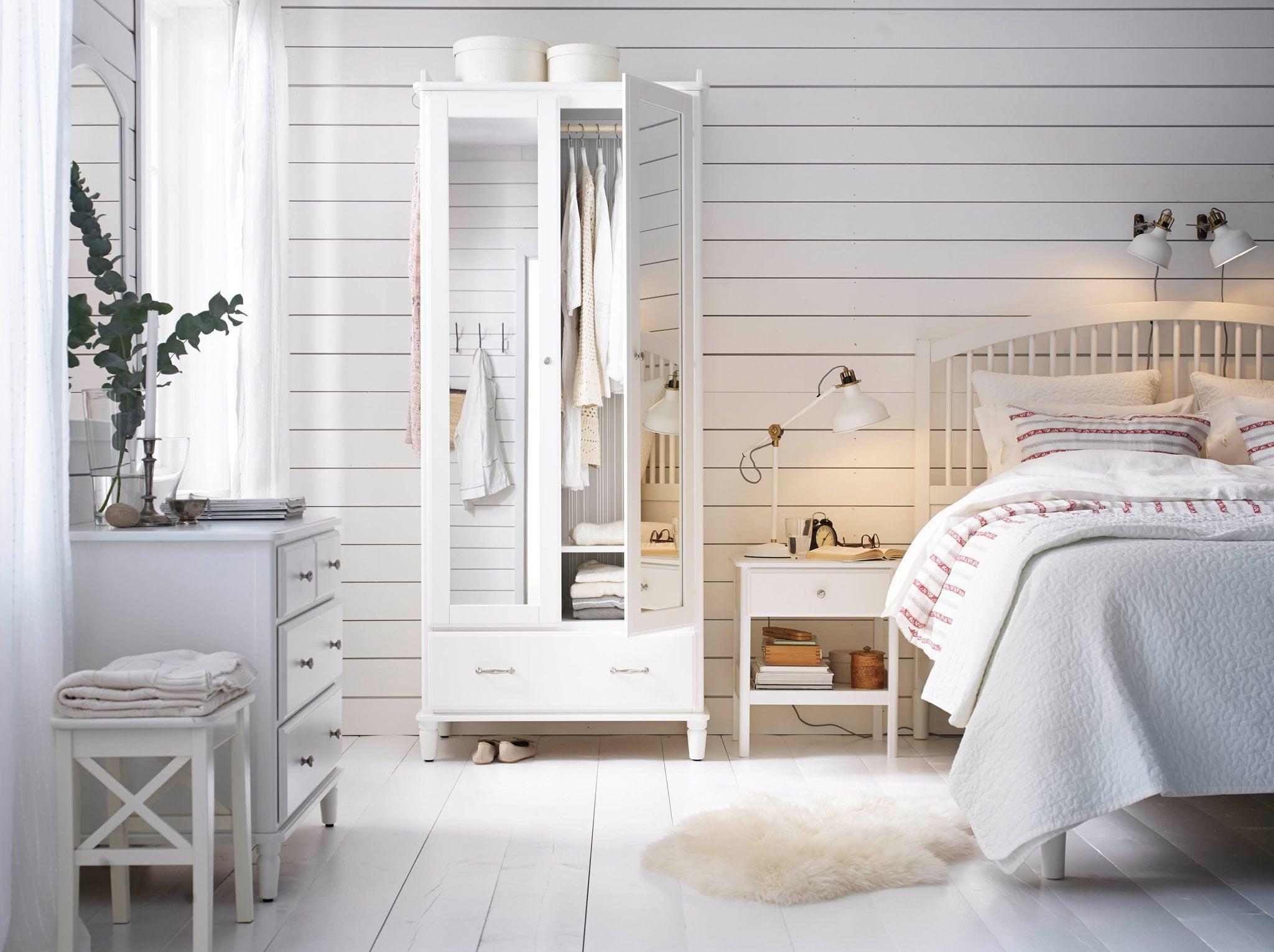 صورة غرف نوم بيضاء , اشيك غرف النوم