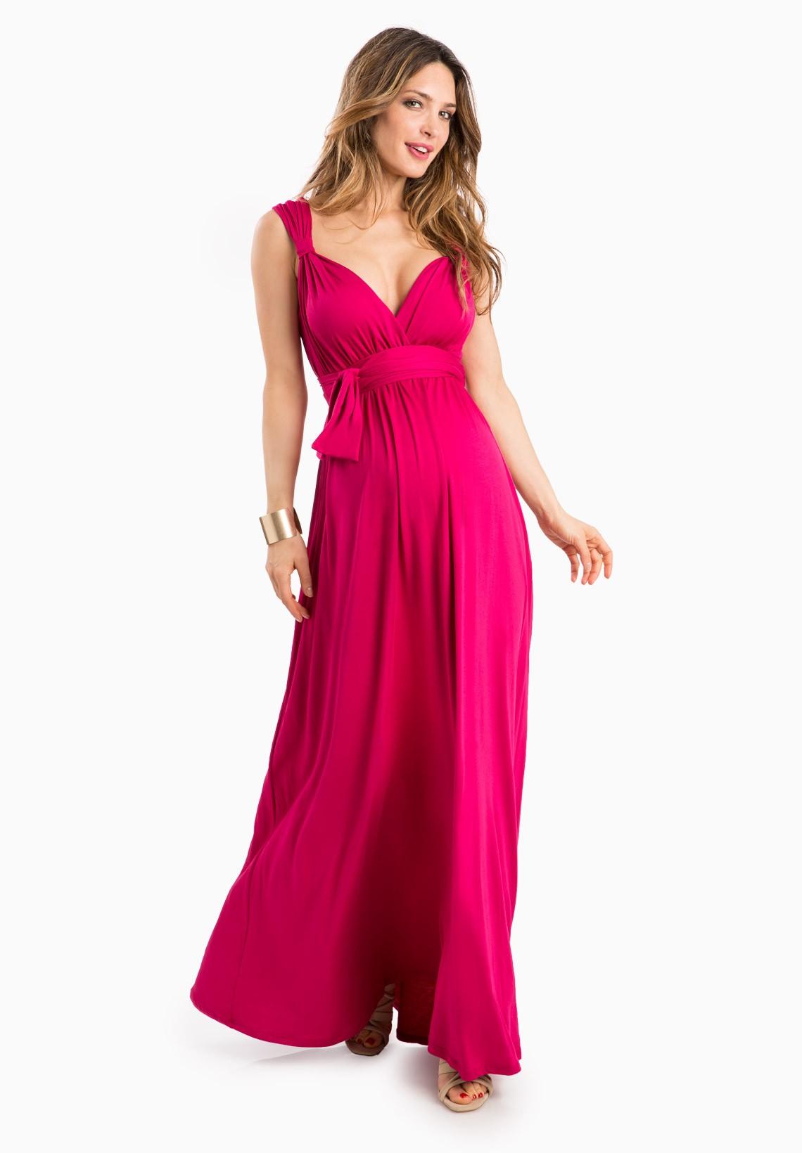 صورة صور فساتين للحوامل , اشيك واجمل اطلالة للحامل لفستانها المميز 5749 5