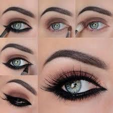 صورة مكياج عيون بالخطوات , اجمل اطلالات عيون