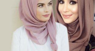 صورة طرق لف الحجاب , لفات طرح تجدد شكلك بالحجاب