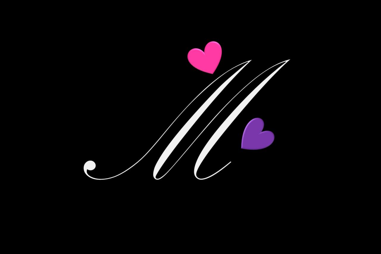 صورة خلفيات حرف m , اسمك بحرف الميم صور في الخيال
