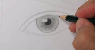 صورة طريقة رسم العيون , والله اندهشت من شده جمالها